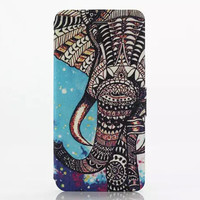 Aztec Elephant Leather Case Cover for iPhone 6S 6 Plus Samsung Galaxy S6