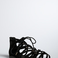 Lace Up Gladiator Sandals (Wide Width)