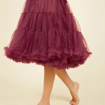 Va Va Voluminous Petticoat in Raspberry - Long | Mod Retro Vintage Underwear | ModCloth.com