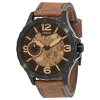 Fossil Nate Skeleron Dial Mens Watch ME3127