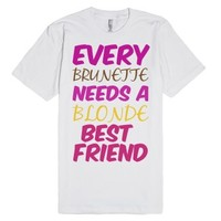 bestfriends blonde-Unisex White T-Shirt
