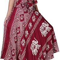 Red Long Bohemian Hippie Skirt