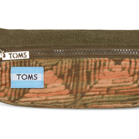 TOMS brown geo mix peninsula pencil case