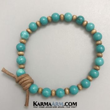OWN YOUR TRUTH: Turquoise | Leather Knot | Yoga Chakra Bracelet