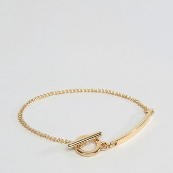 ASOS T Bar Chain Bracelet at asos.com