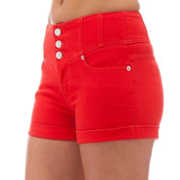 Juniors Red Shorts - The Else