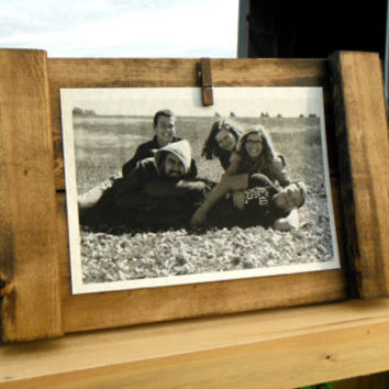 Rustic Picture Frame - Rustic Decor - 4X6 & 5X7 Wall Frame - Rustic Wall Decor