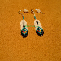 Native American Style Four Direction Feather earrings
