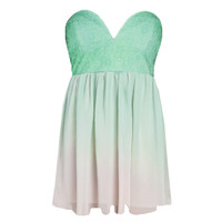 Ombre Strapless Dress