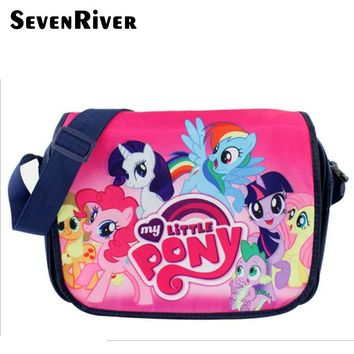 My Little Pony Canvas Baby Girl School Bag Schoolbag Lovely Children Cartoon Messenger Bag Satchel