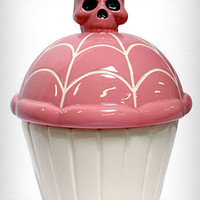 Pink Skullcakes Cookie Jar