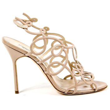 Manolo Blahnik Womens Cut Out Sandal GORI OS STEFAN 6248