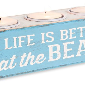 Life is Better at the Beach MDF Board Tea Light Holder