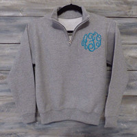 Girls Monogram Sweatshirt 1/4 Zip * Free Shipping *