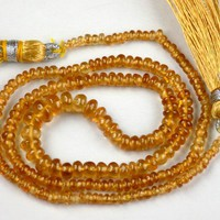 """1 Strand Natural Hessonite Gemstone Smooth Rondelle Beads 2-6mm 16.5"""" Long, Necklace Beaded Jewelry For Beads Wholesale Price"""