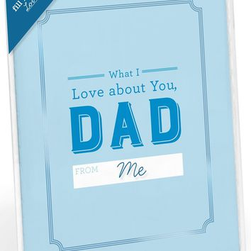 What I Love About You, Dad - Fill In The Love Card Booklet