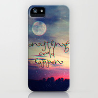 Anything could happen iPhone Case by M✿nika  Strigel	 | Society6