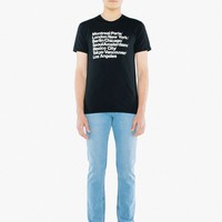 Cities Print 50/50 T-Shirt | American Apparel