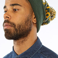 The Green Bay Packers Tip Off Pom Beanie in Green & Yellow