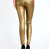 Gold Dust Skinny Jeans