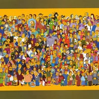 The Simpsons Complete Cast XL Giant Poster 40x60