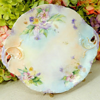 Beautiful Antique Rosenthal Porcelain Hand Painted Artist Signed Plate Tray