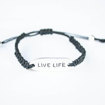 Live Life Word Friendship Bracelet