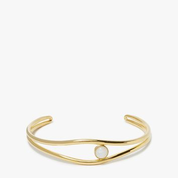 Lizzie Fortunato / Double Wave Choker in Gold