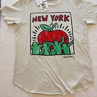 KEITH HARING New York T-Shirts By Junk Food NEW Sizes S, M, L, XL