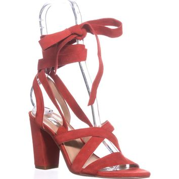 5a65b46da8 I35 Kailey Lace-Up Block-Heel Sandals, Spring Red, 5.5 US