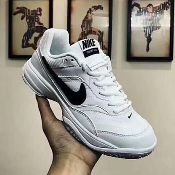 NIKE COURT LITE Fashion Women Men Casual Sport Fitness Tennis Sport Shoe  Sneakers White I- 8990e3e96