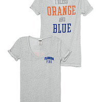 University of Florida Rolled Cuff Tee - PINK - Victoria's Secret