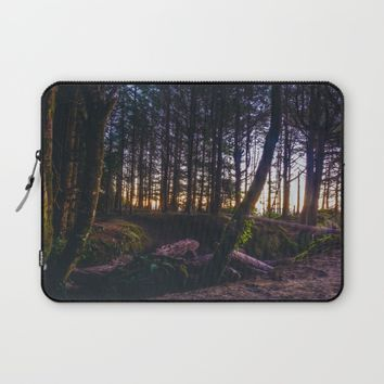 Wooded Tofino Laptop Sleeve by Mixed Imagery