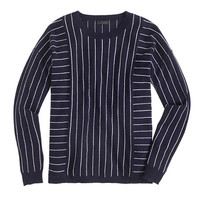 J.Crew Womens Collection Cashmere Sweater In Pinstripe