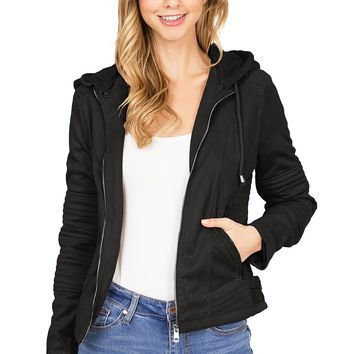 Starlight Suede Moto Jacket
