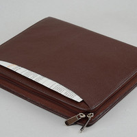 The new iPad 3 Briefcase Portfolio for iPad Carrying Case Full Grain Leather iPad 2 Business Case for iPad Air and iPad Air 2