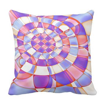 Colorful Abstract Quilt Pattern Outdoor Pillow