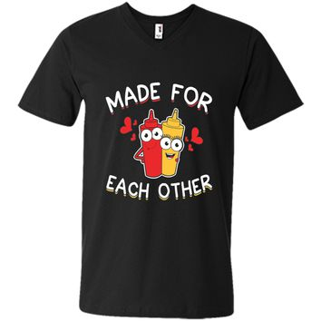 Ketchup & Mustard Made For Each Other Valentines Day Shirt