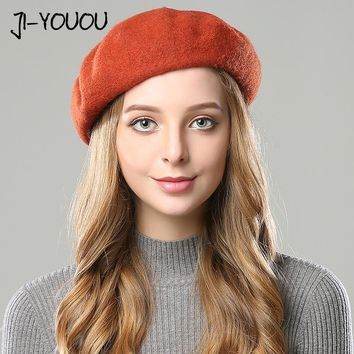 winter hats for women Double layer fur pompom 2017 beanie crocheted berets rabbit women's hat knitted cap mask balaclava