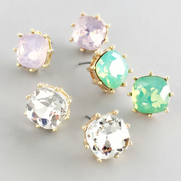 Sophisticated Crystal Stud Earrings