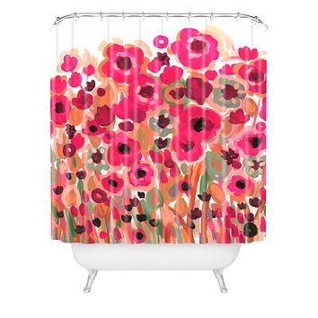 Natasha Wescoat Brightly Blooming Shower Curtain