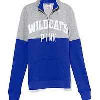 University of Kentucky Colorblock Half Zip Pullover - PINK - Victoria's Secret