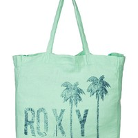 Need It Now Printed Linen Beach Tote 888256823501 - Roxy