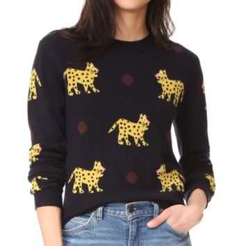 All Over Leopard Cashmere Sweater