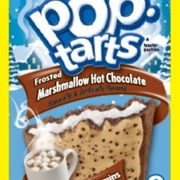 Kellogg's Limited Edition Frosted Marshmallow Hot Chocolate Pop Tarts (8 Toaster Pastries)