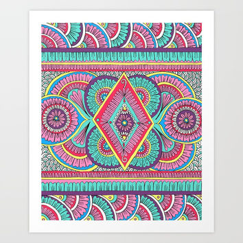 Cosmic Rainbow Art Print by Sarah Oelerich
