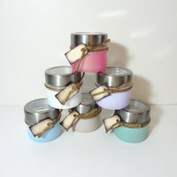 Spice Jars, Glass,Hand Painted, Container, Spice Bottles, Pink, Blue, Purple, Green, White, Beige
