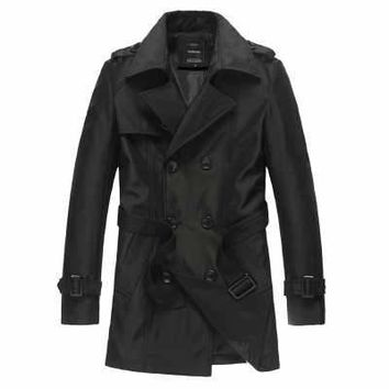 Trench Coat Men Classic Mens Double Breasted Trench Coat Masculino Mens Clothing Long Jackets Coats British Style Overcoat A3704