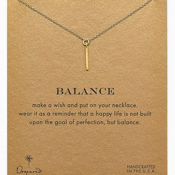 Women's Dogeared 'Reminder - Balance' Boxed Pendant Necklace