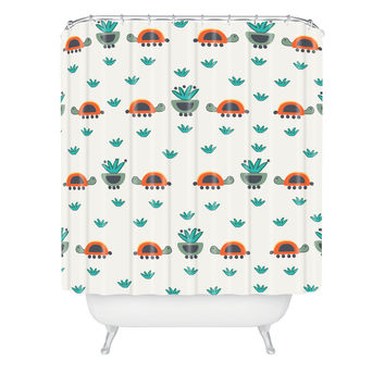 Gabriela Larios Turtles And Pots Shower Curtain
